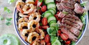 Surf 'n Turf Salad with Cilantro Dressing